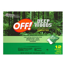 Load image into Gallery viewer, Deep Woods Off Deep Woods Insect Repellent Wipes (12 Towelettes, Pack of 3)