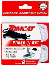 Load image into Gallery viewer, Tomcat Press 'N Set Mouse Snap Trap (2 Pack)