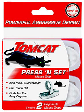 Tomcat Press 'N Set Mouse Snap Trap (2 Pack)