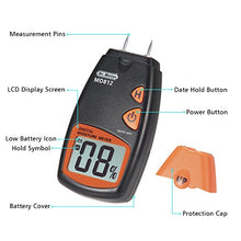 Load image into Gallery viewer, Dr.meter Digital Portable Wood Water Moisture Tester, Digital LCD Display with 2 Spare Sensor Pins and one 9V Battery