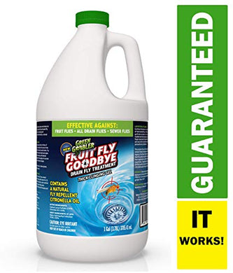 Green Gobbler Fruit Fly Goodbye, Gel Drain Treatment (1 Gallon)