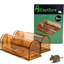 Load image into Gallery viewer, CaptSure 2019 Humane Smart Indoor/Outdoor Mouse Trap for Small Rodents/Voles/Moles, Live No Kill Catcher (2 Pack)