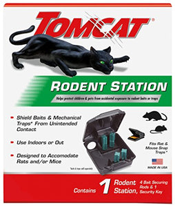 Tomcat Rodent Bait Station for Indoor / Outdoor Use