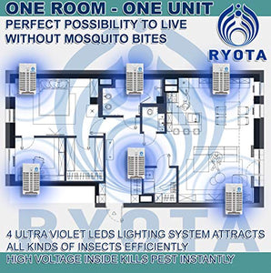 RYOTA Electric Indoor/Outdoor Bug Zapper with UV Light