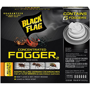 Black Flag Concentrated Fogger (1.5 oz Cans, 6 Pack)