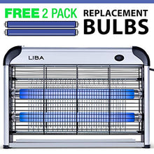 Load image into Gallery viewer, LiBa Bug Zapper & Electric Indoor Insect Killer (2 Replacement Bulbs Incl.)