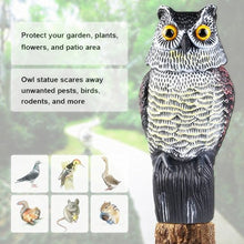 Load image into Gallery viewer, Owl Decoy with Rotating Head Bird Deterrent