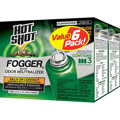 Hot Shot Fogger 6 With Odor Neutralizer, 3/2-Ounce, 2-Pack