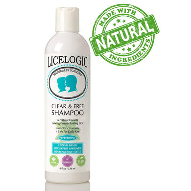 LiceLogic Natural Head Lice Shampoo and Treatment - Non Toxic Formula Kills Super Lice, Nits, and Eggs with No Harsh Chemicals, 8 oz