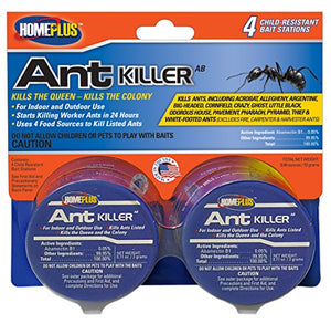 PIC Homeplus Ant Killer Metal Bait Stations, Child Resistant (4 Count)