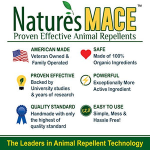 Nature's Mace Deer and Rabbit Repellent, 40oz Ready-to-Use Spray Bottle PLUS 40oz Concentrate