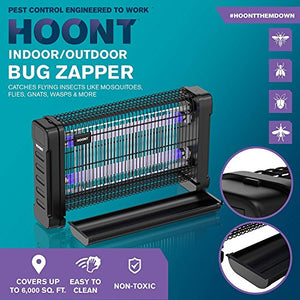 Hoont Bug Zapper Powerful Indoor Electric Fly Zapper Trap – 40 Watts, Protects 6,500 Sq. Ft. – Fly Killer, Insect Killer, Mosquito Killer – For Residential, Commercial and Industrial Use [UPGRADED]