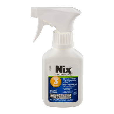 Nix Lice Control Spray | Kills Lice and Bedbugs on Bedding and Furniture | Odorless and Stainless | 5 Fluid Ounces