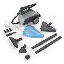 Load image into Gallery viewer, Pure Enrichment PureClean XL Rolling Steam Cleaner - 1500-Watt Multi-Purpose Household Steam Cleaning System - 18 Accessories for Deep Cleaning Floors, Windows, BBQ Grills, Ovens, Vehicles and More