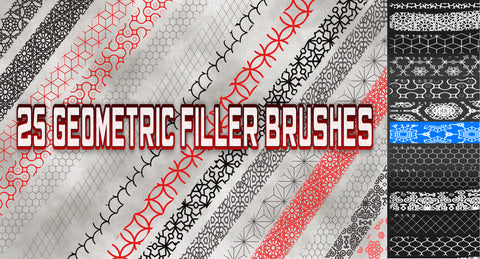 25 Geometric Filler Brushes
