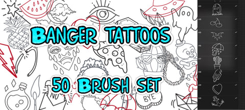 50 Banger Tattoo Brushes