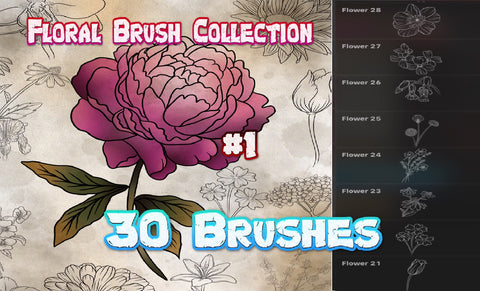 Floral Collection 1 - 30 Brushes