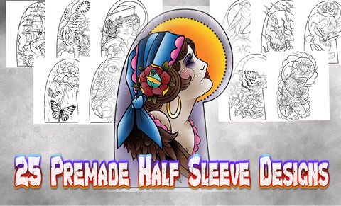 25 PreMade Half Sleeve Designs