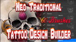 Neo Traditional 60 Tattoo Brushes for Procreate