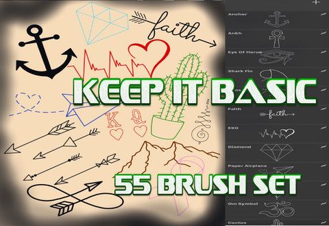 Keep it Basic 55 Procreate Tattoo Brushes