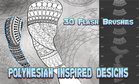 Polynesian Inspired Designs 30 Brushes