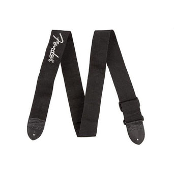 Fender Black Polyester Straps with Grey Logo