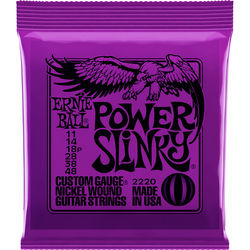 Ernie Ball Power Slinky Nickel Wound Electric Guitar Strings (6-String Set, .011 - .048)