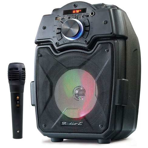 "STUDIO Z STZP-650 ACTIVE SPEAKER RECHARGEABLE 6.5"" W/MICROPHONE"