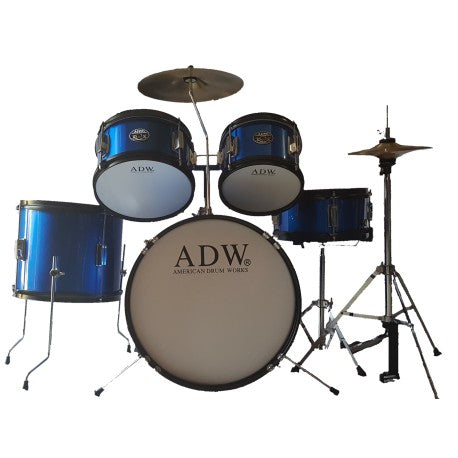 Bateria Junior ADW 5 Pieces Drum /w Cymbals & Throne