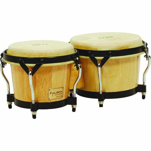 Tycoon Percussion Bongos Natural Finish