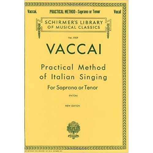 VACCAI Practical Method Of Italian Singing For Soprano Or Tenor