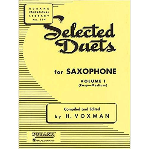 Selected Duets for Saxophone, Vol. 1: Easy to Medium