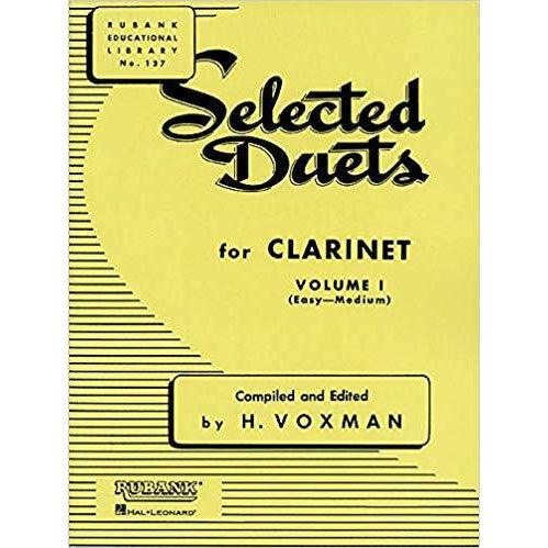 Selected Duets for Clarinet, Vol. 1: Easy to Medium