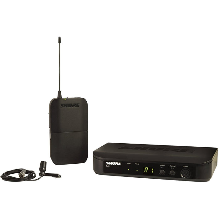 SHURE BLX14/CVL Instrument Wireless System with CVL Lavalier Microphone, J10