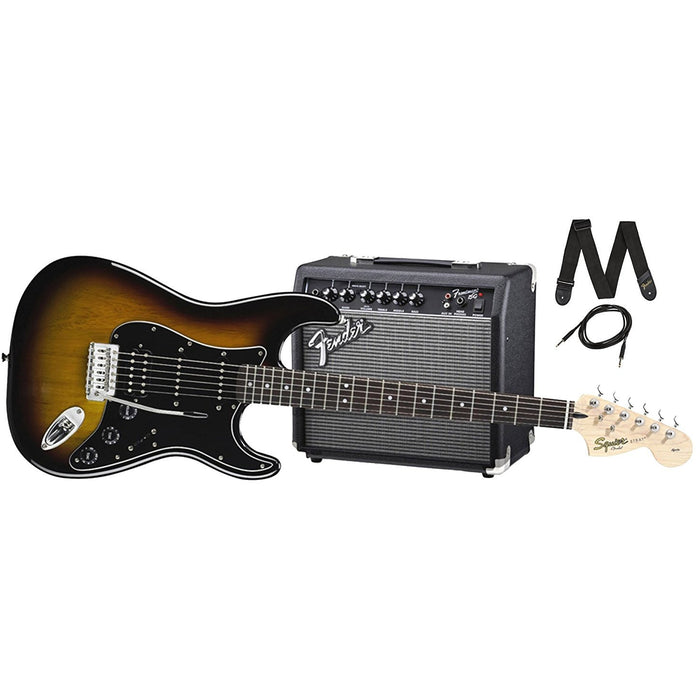 Squier Strat Pack HSS - Brown Sunburst Finish