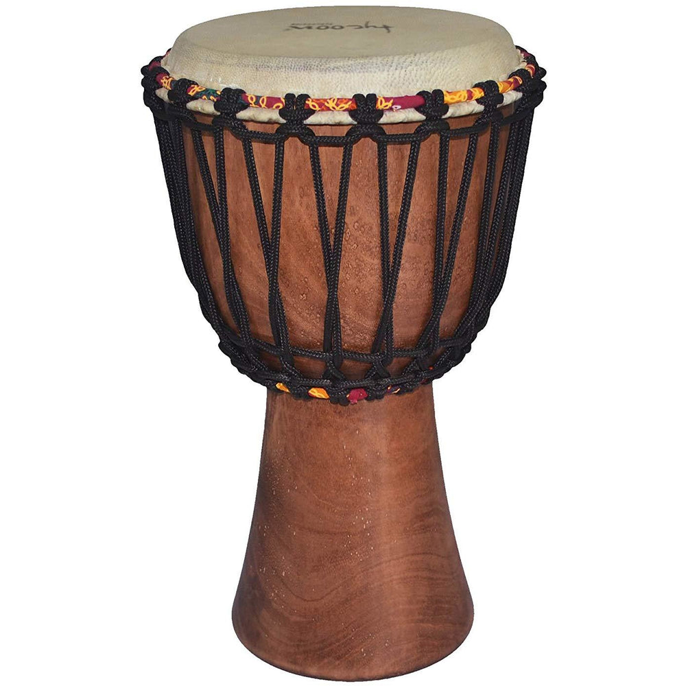 "Tycoon Percussion TAJ-12 African Djembe with 12"" Goat Skin Head Natural Finish"