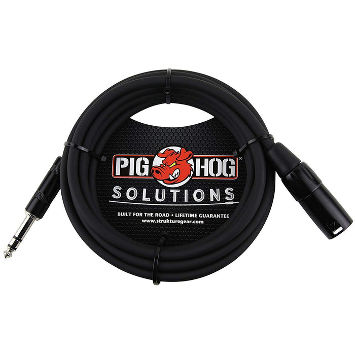 Pig Hog Solutions TRS(M) to XLR(M) Balanced Adapter Cable 5 ft.