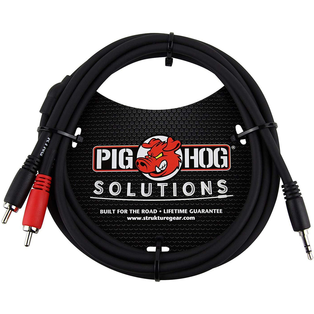 Pig Hog PB-S3R06 Stereo Breakout Cable, 6ft