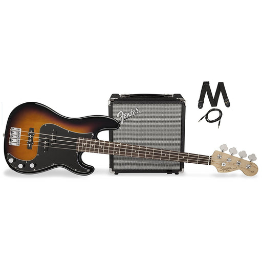 Squier PJ Bass Pack - Brown Sunburst Finish