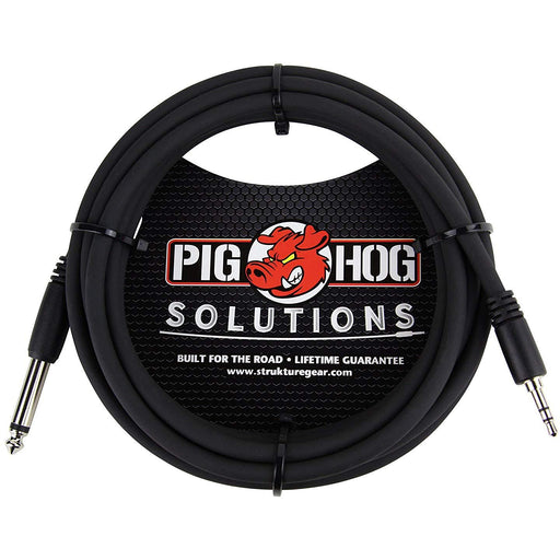 Pig Hog PX-35T4M 1/8 inch TRS to 1/4 in Mono Cable, 10 ft
