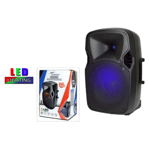 "DJAP-1054A 10"" Powered BlueToothPA Speaker Cabinet With LED Illumination (SOLO DISPONIBLE PARA RECOGIDO EN TIENDA)"