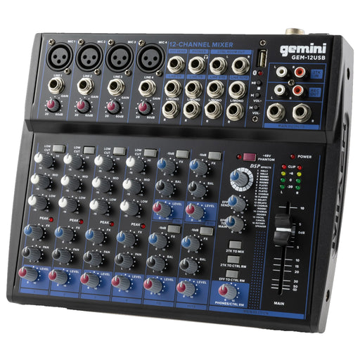 GEM-12USB: Compact 12 Channel Bluetooth Mixer