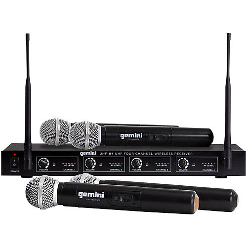 GEMINI UHF-04M: WIRELESS MICROPHONE SYSTEM