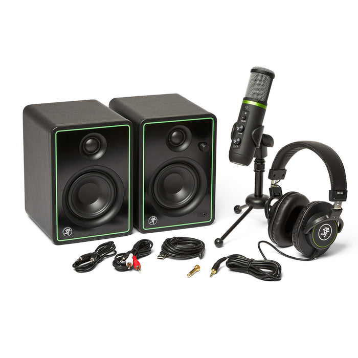 Mackie Creator Bundle with USB Microphone and Monitors
