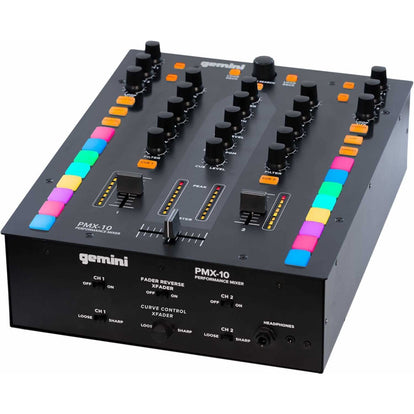 GEMINI PMX-10: 2-CHANNEL MIXER AND DJ CONTROLLER