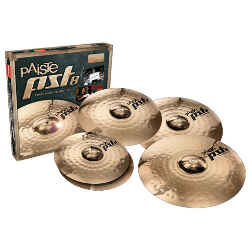 "Paiste PST 8 Rock Cymbal Set - FREE 16"" Crash"