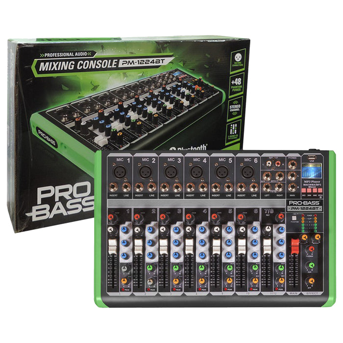 Pro Bass pm-1224bt Bluetooth profesional
