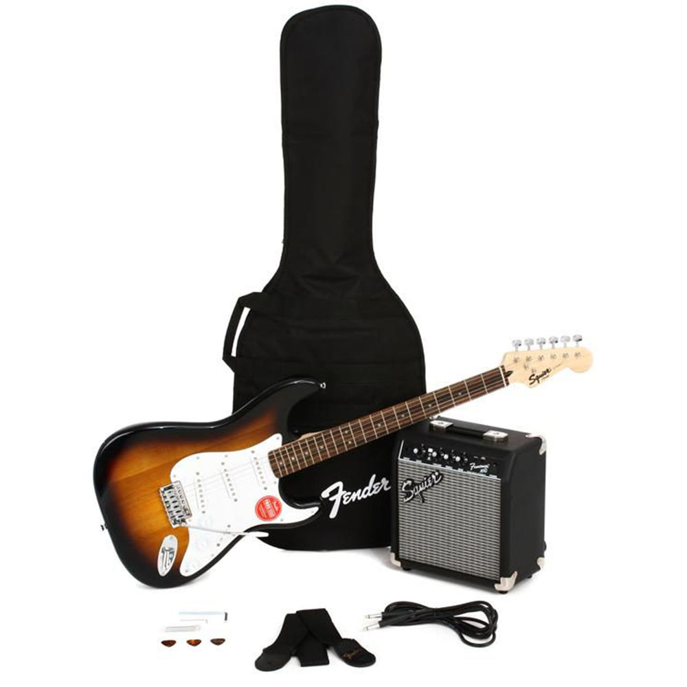Squier Stratocaster Pack - Brown Sunburst