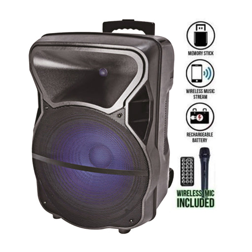 "STUDIO Z  15"" ACTIVE SPEAKER RECHARGABLE"