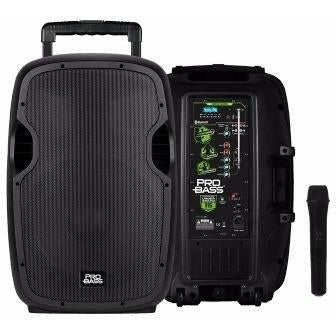 "Pro Bass Underground 15 Portable Battery Powered 15"" 1600Watts"